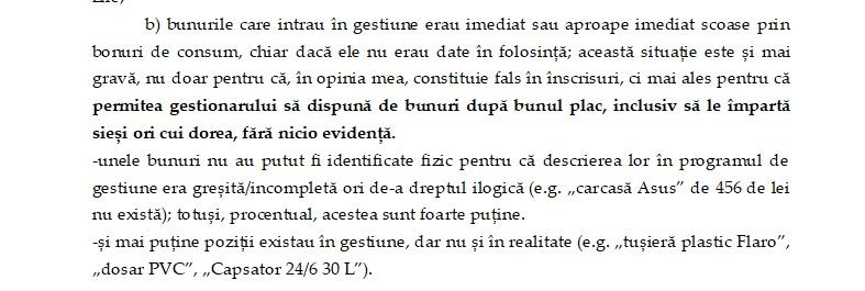 Extras dintr-un raport intern al IICCMER privind gestiunea bunurilor.