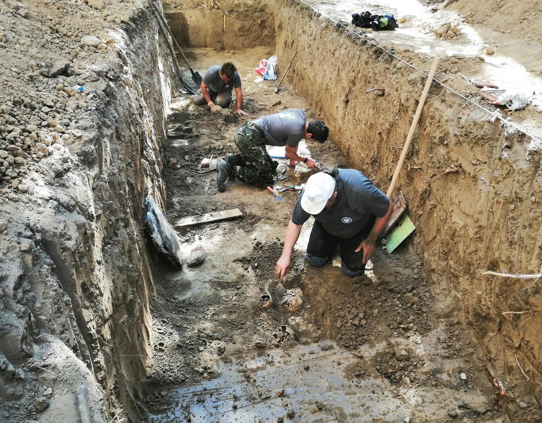 Investigații arheologice desfășurate de echipa IICCMER. Foto: IICCMER